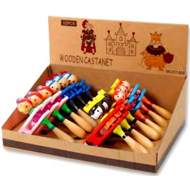 Assortiment  de crécelles en bois pour enfant