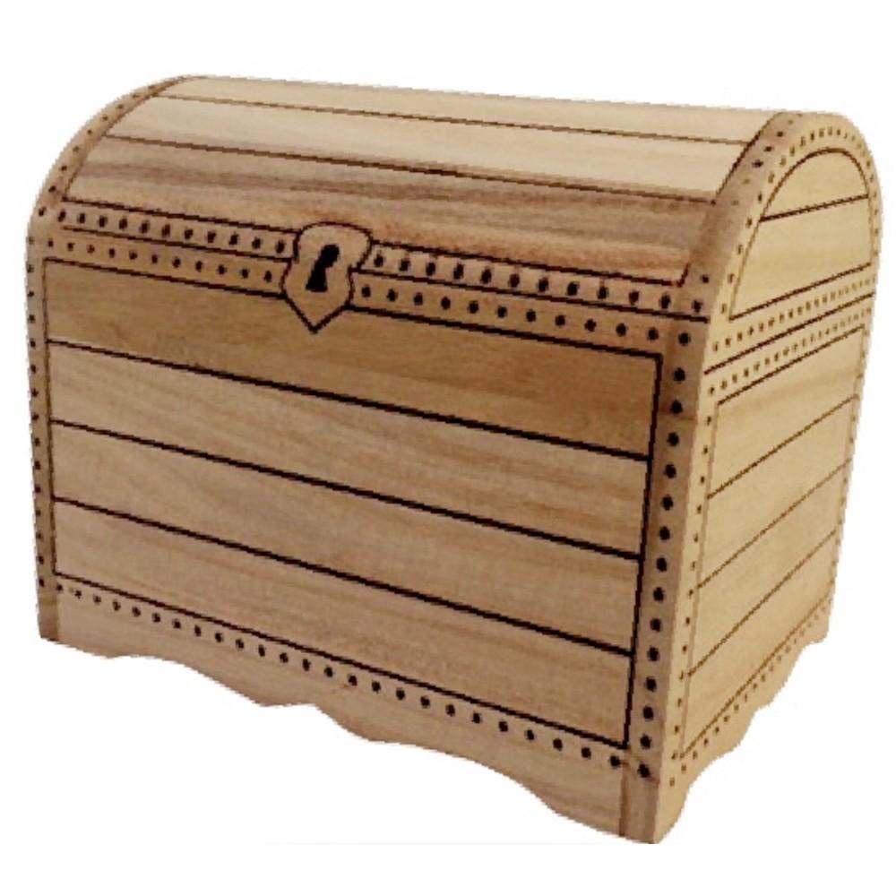 super populaire 511ab 21a19 Tirelire coffre trésor en bois