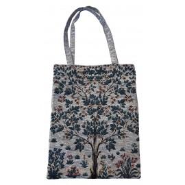 Sac textile à motifs d'arbre de vie en coton et polyester