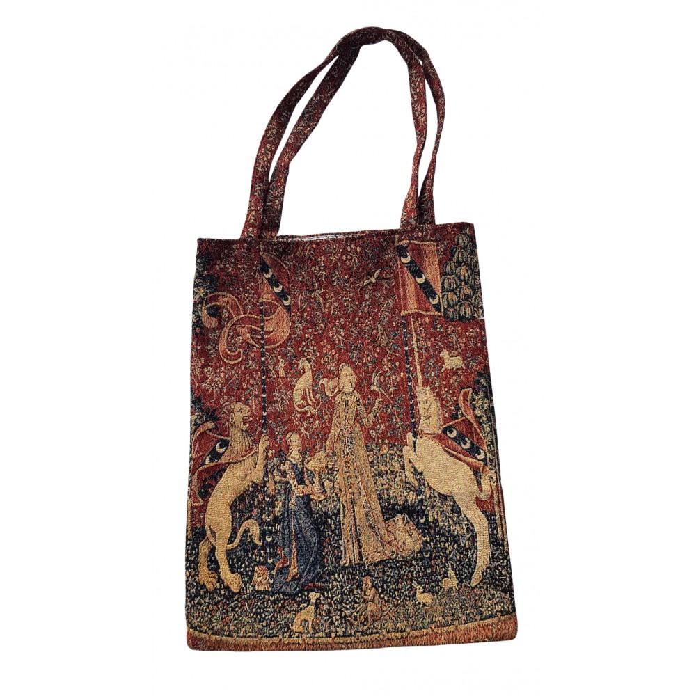 Sac textile à motifs de dame licorne en coton et polyester
