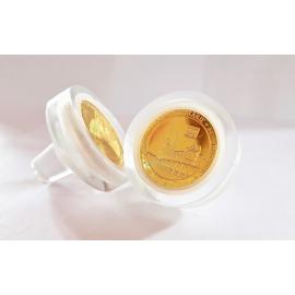 Bouchon en verre hermétique avec emplacement pour une pièce ou une médaille