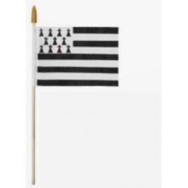 drapeau breton avec bâtonnet taille S