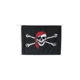 Drapeau pirate avec foulard rouge taille M