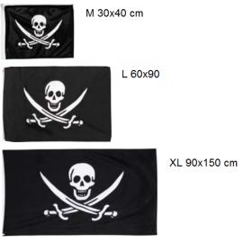 Mix drapeaux pirate avec deux sabres