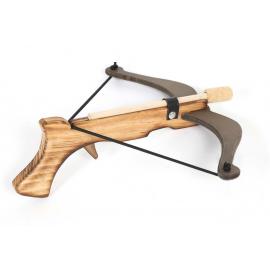 pistolet arbalète flammé en bois naturel