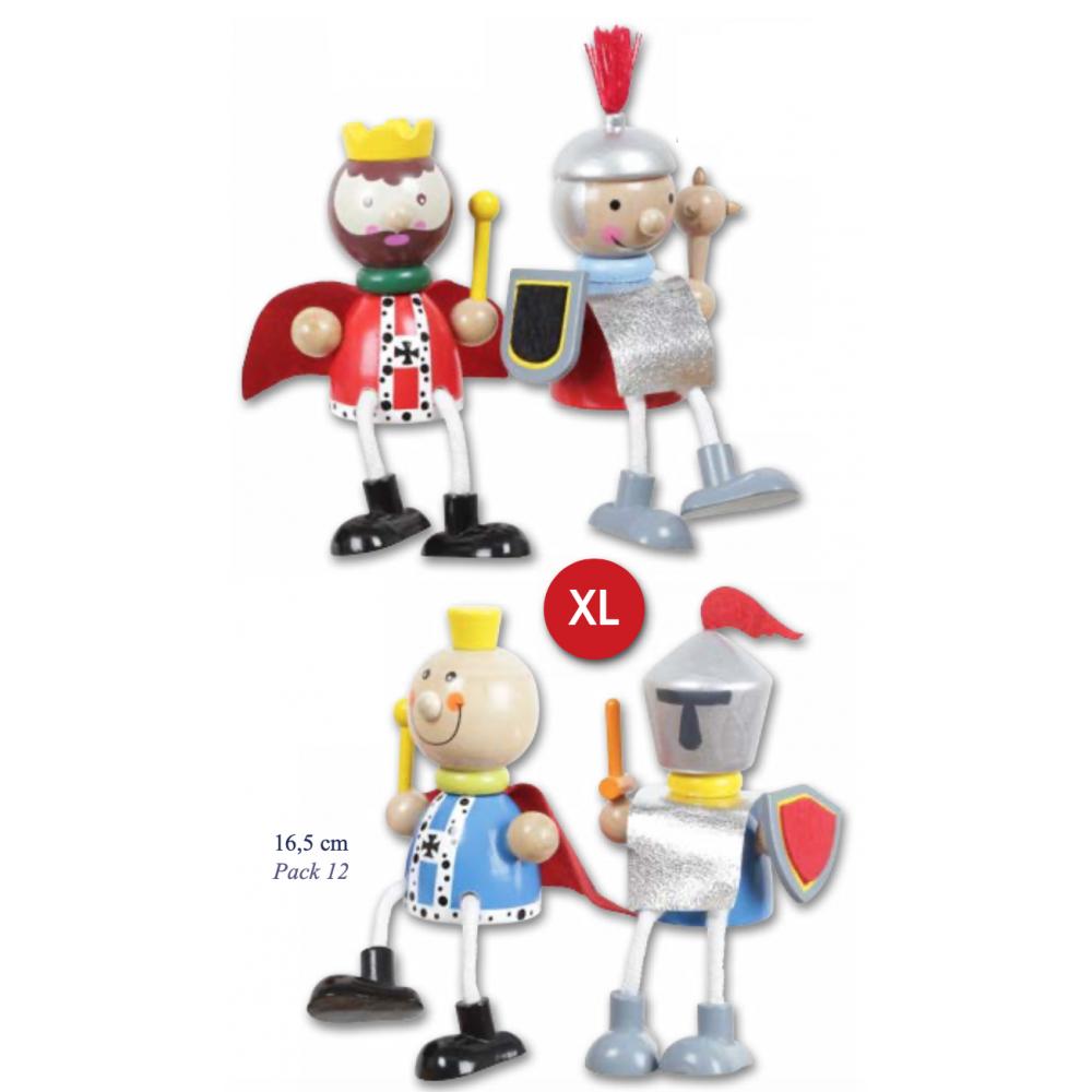 assortiment de figurines roi, prince, chevalier