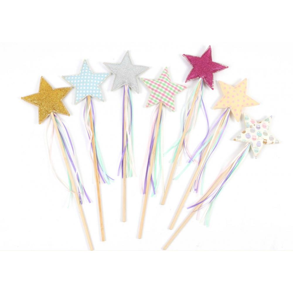 assortiment de baguette fée en forme d'étoiles.