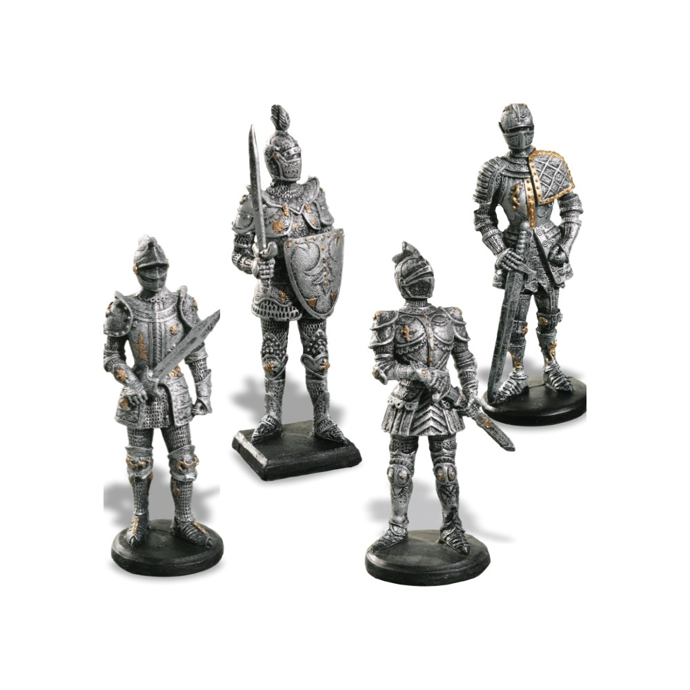 assortiment 4 guerriers