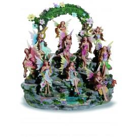 Présentoir figurines fées et ses 10 fées.