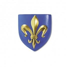 magnet 1 fleur de lys blason roi de France