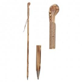 Canne en Bois Naturel -120 cm avec cordelette - détails
