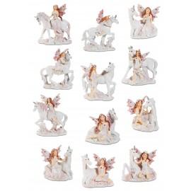 Figurines de12 fées avec licorne