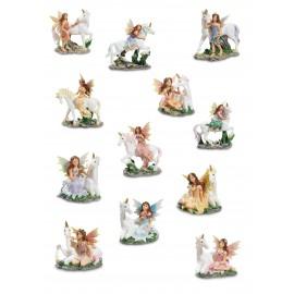 Assortiment de 12 fées licornes