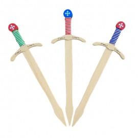 épées templier colorées