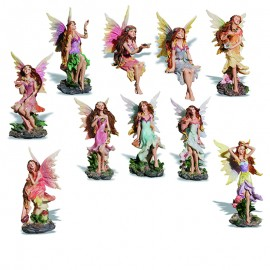 Assortiment de 10 Figurines Fées