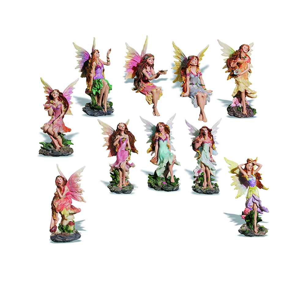 Assortiment de 10 Figurines Fées