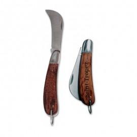 Couteau serpette de couleur marron personnalisable