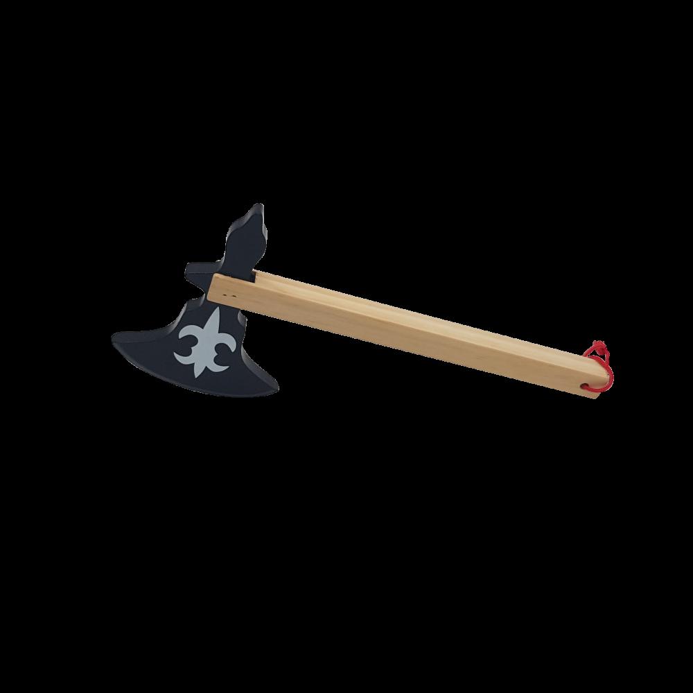 Hache noire en bois