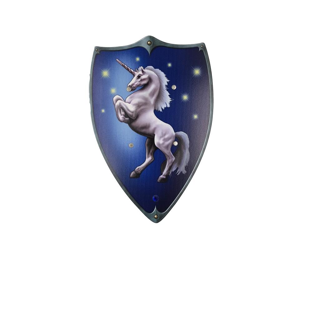 Bouclier Ecusson Licorne Bleu