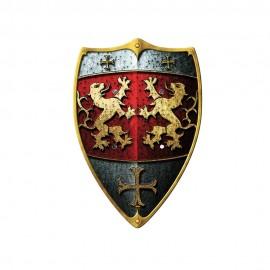 """Bouclier Ecusson """"2 Lions"""""""