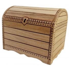 Tirelire coffre trésor en bois